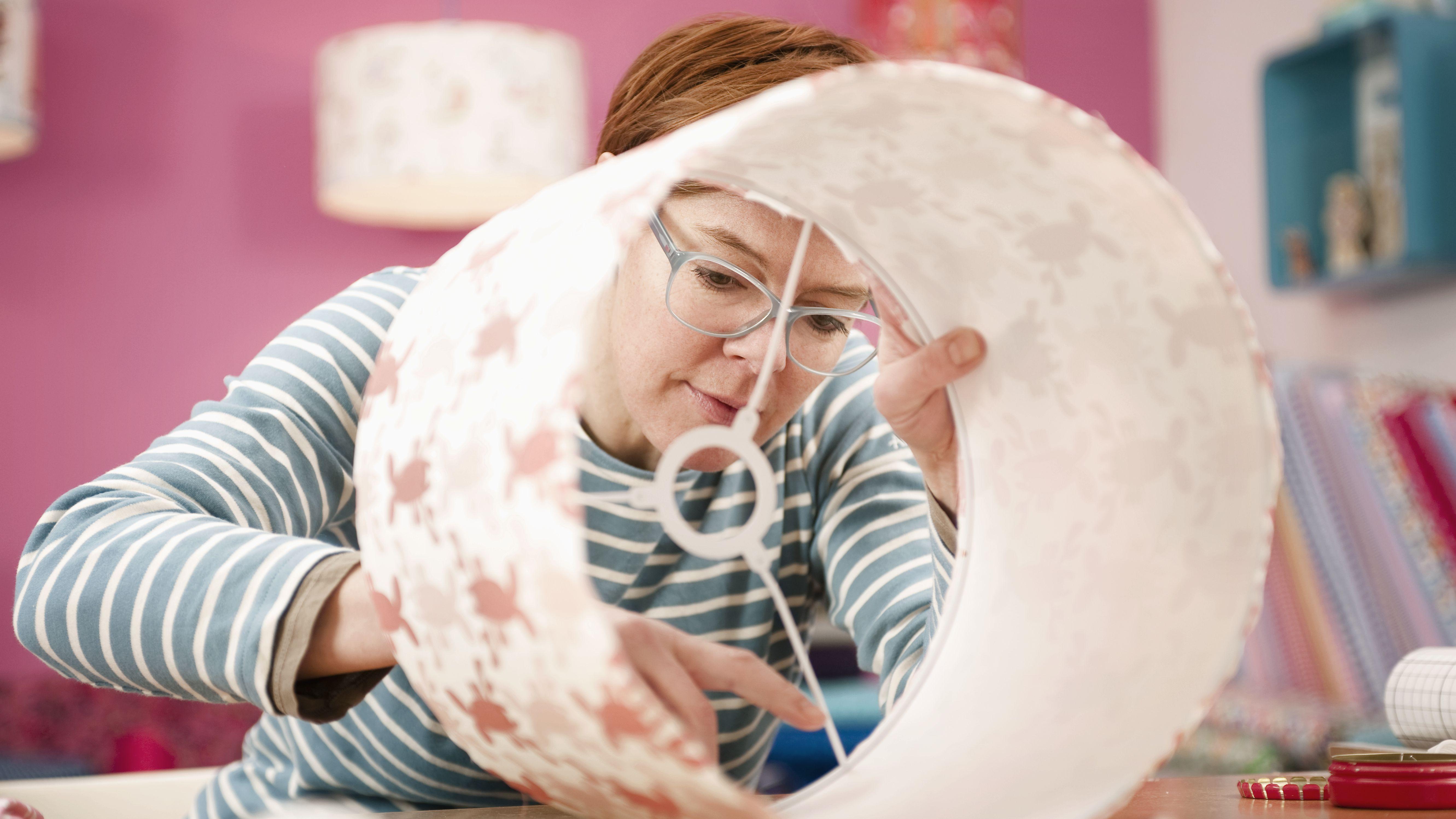 Diy Wallpaper Or Fabric Lampshade