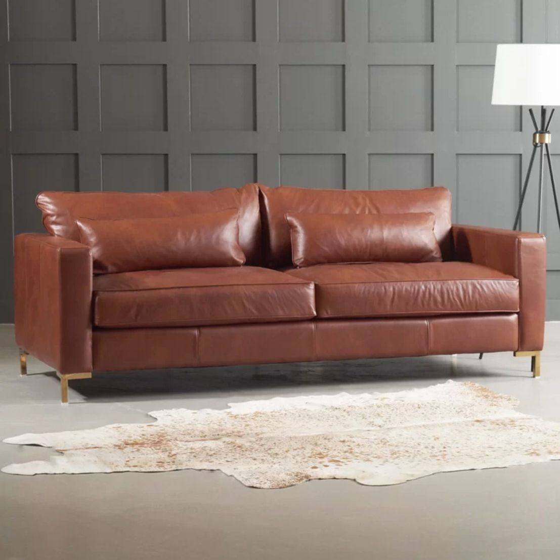 Best Leather Dwellstudio Maxine Sofa