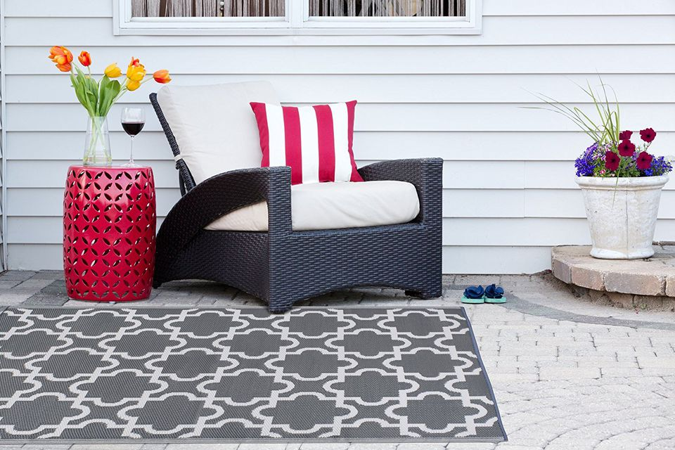 DII Moroccan Indoor/Outdoor Lightweight, Reversible, & Fade Resistant Area Rug