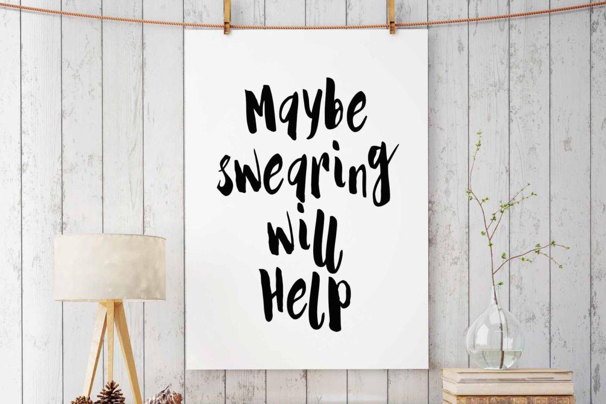 Tal vez jurar ayudará