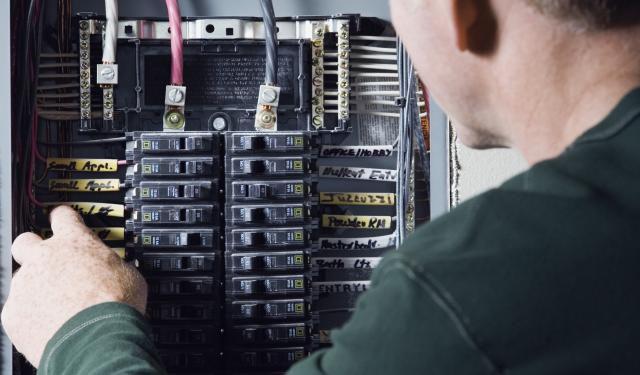 Inside Electric Service Panel