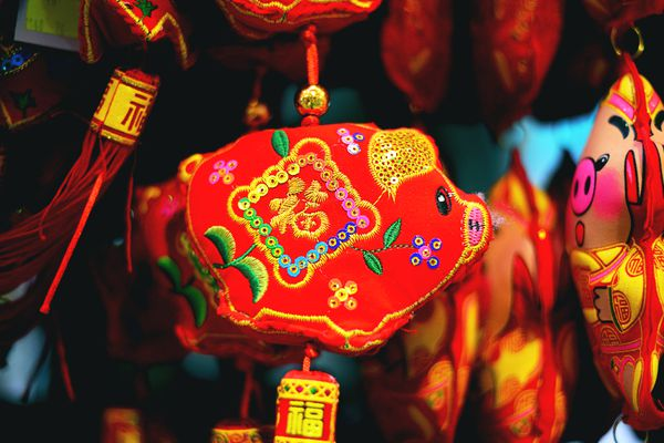 Year of the Pig ornament for the Chinese new year
