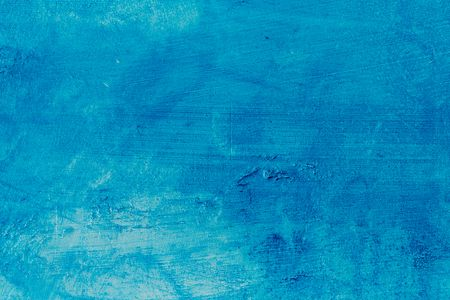 Abstract Blue Background Texture Concrete Or Plaster Hand Made Wall