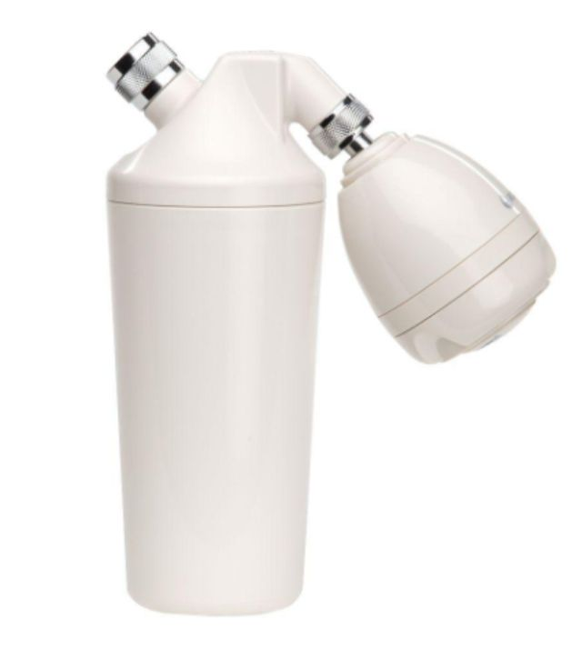 premium shower filter w/ massaging shower head