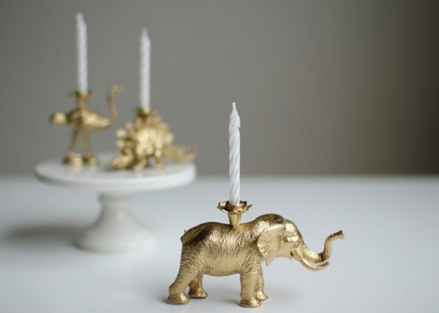 DIY Toy Animal Candle Holder