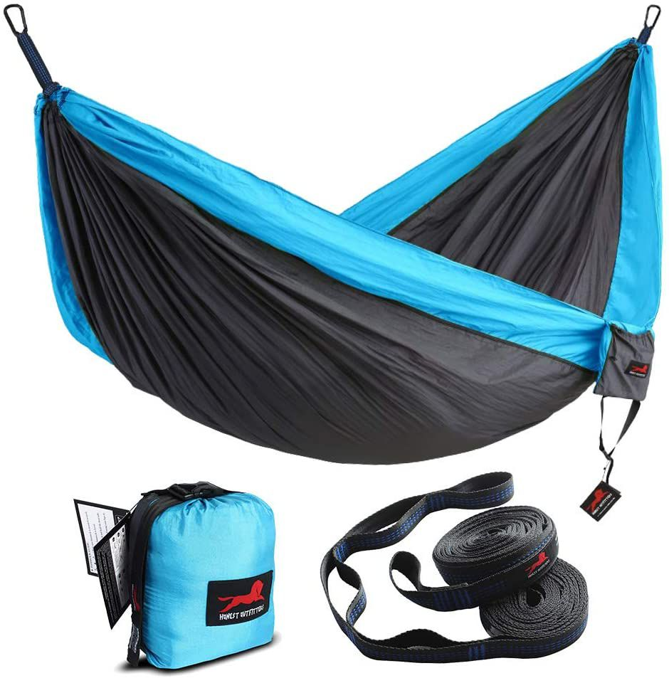 Honest Outfitters Single Camping Hammock with Hammock Tree Straps