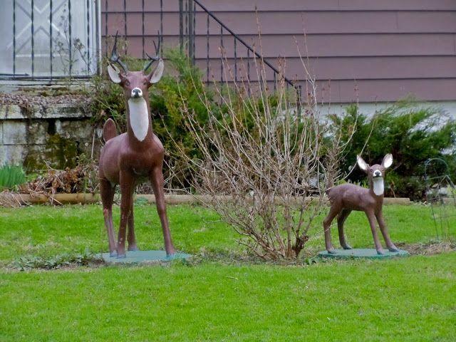 Fake Deer in Lawn