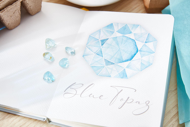 Blue Topaz wedding anniversary gift idea