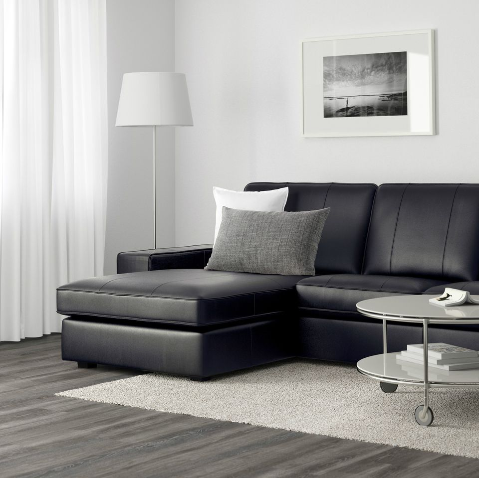 IKEA Kivik sofa in leather