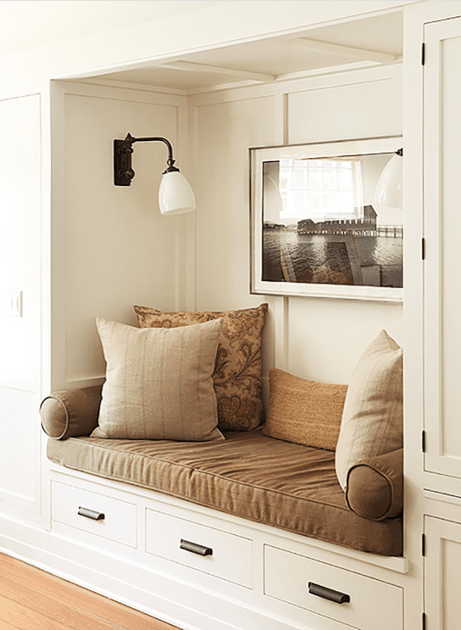 Reading nook in a Craftsman home