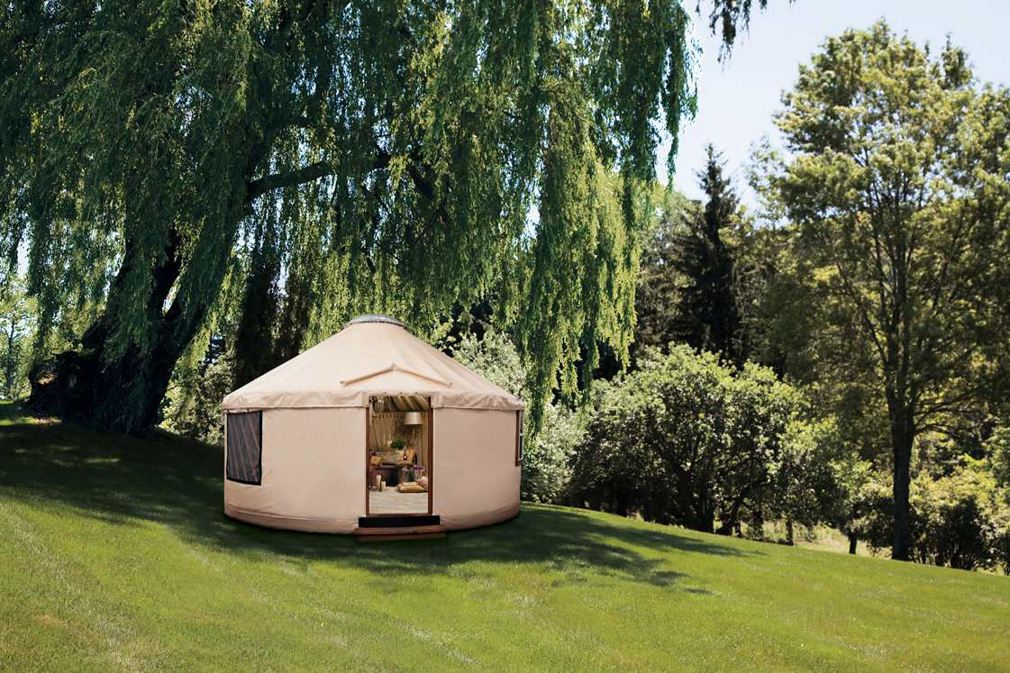 A Rainier Yurt from a Neiman Marcus Catalog