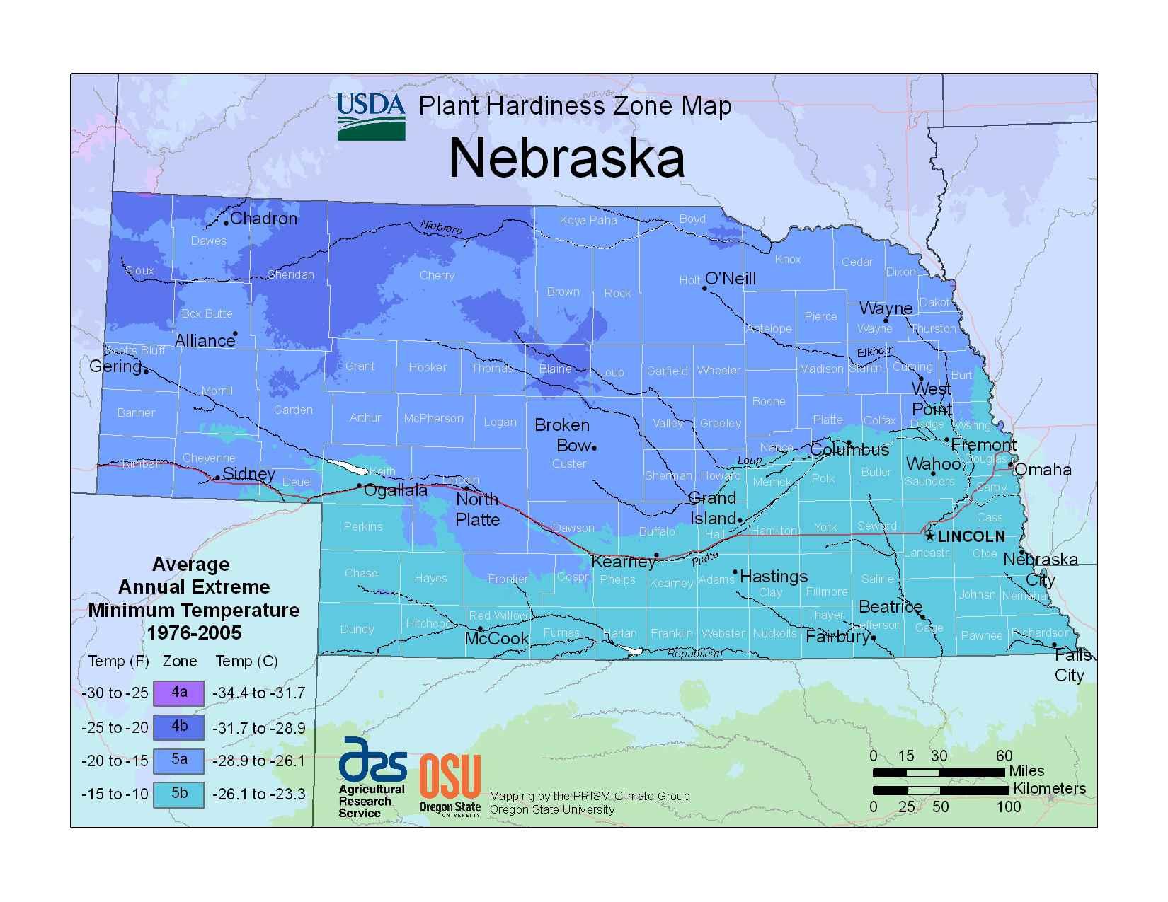 Photo of Nebraska Hardiness Zones