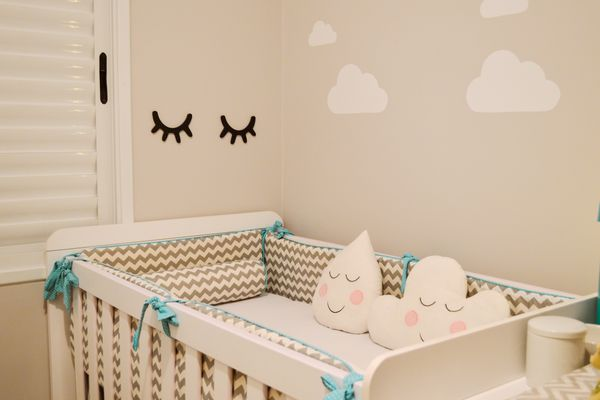 earthy colors in a baby's room