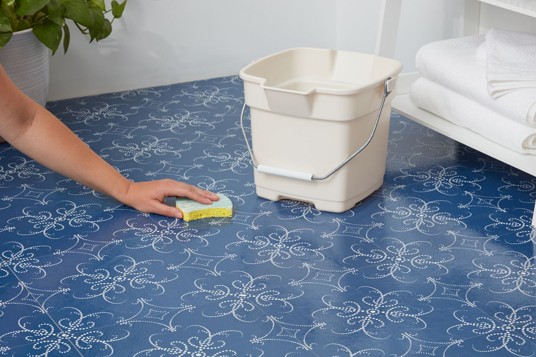 Cleaning Self Adhesive Floor Tiles