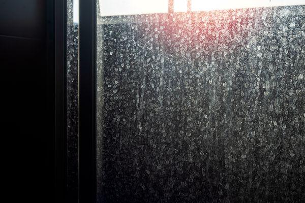 Water spots on shower doors