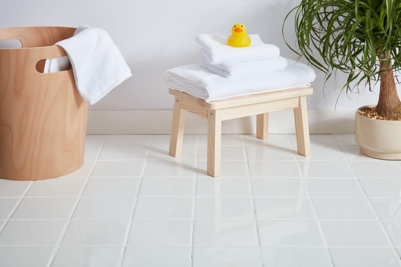 Bathroom ceramic floor tile