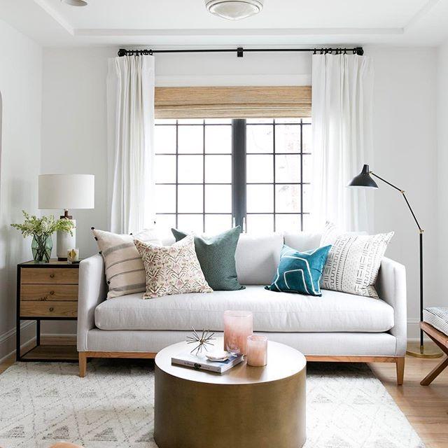 Tratamientos de ventana en la sala de estar
