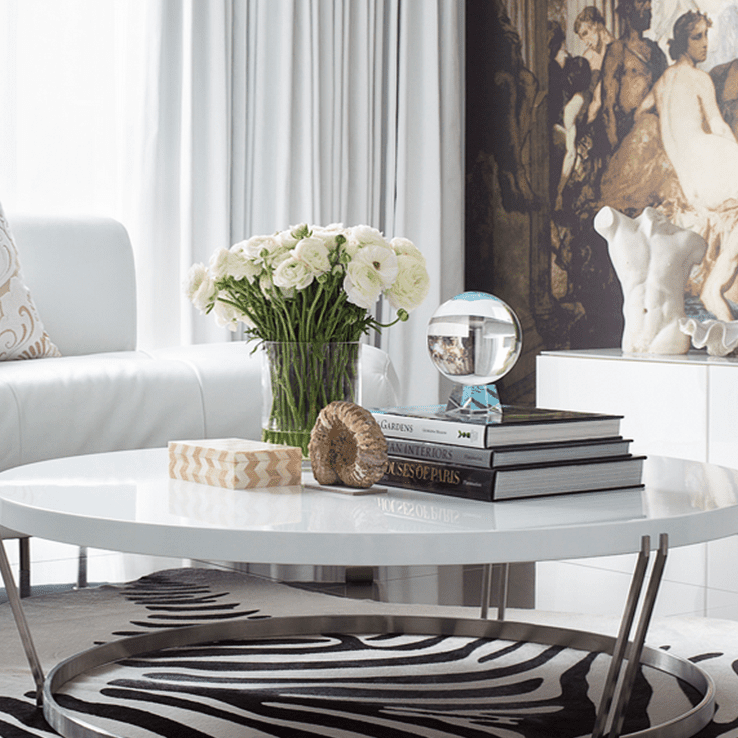 To Decorate And Style A Coffee Table, How To Decorate Small Round Coffee Table