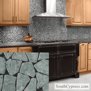 Idea Pebble Tile Behind Stove Or As Backsplash