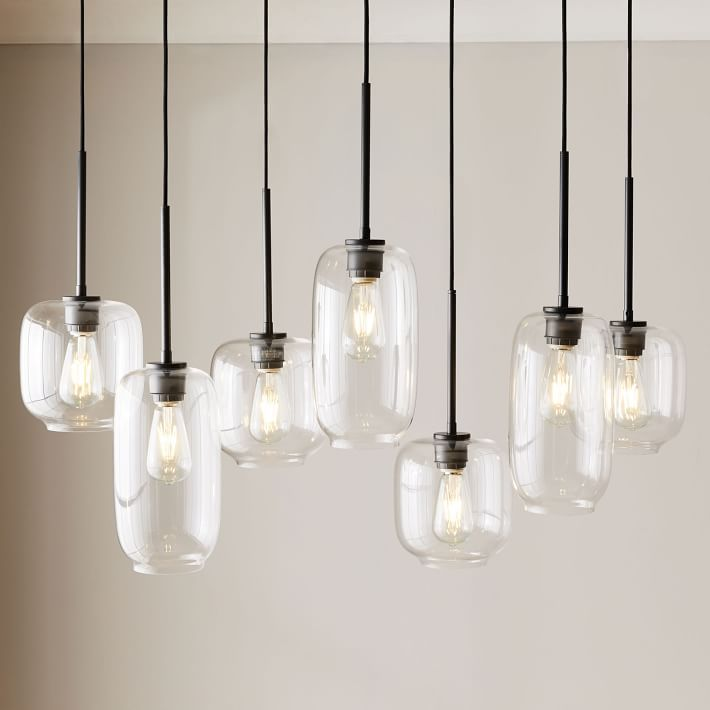 The 8 best chandeliers to buy in 2018 sculptural glass pebble 7 light chandelier mixed aloadofball Gallery