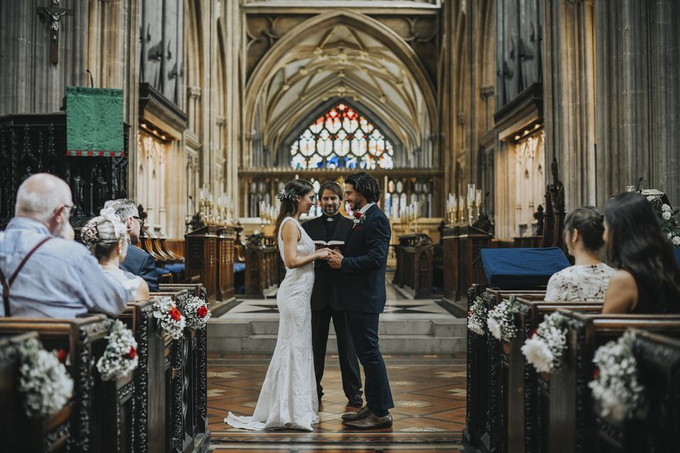 Wedding in England chapel