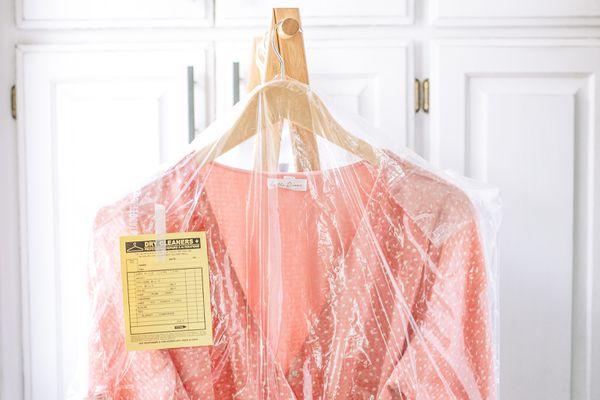 dry-cleaned garment