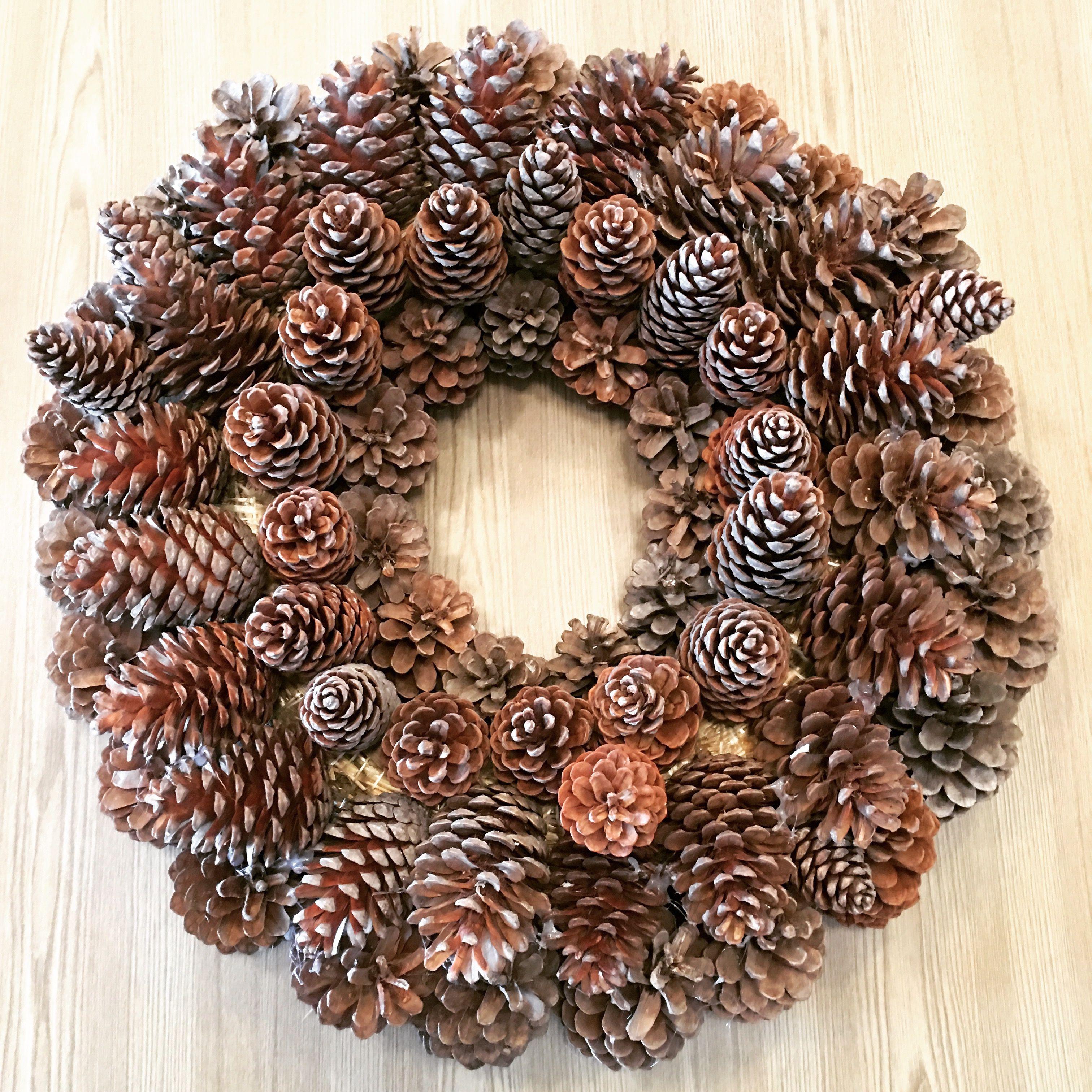 Decorating with pinecones