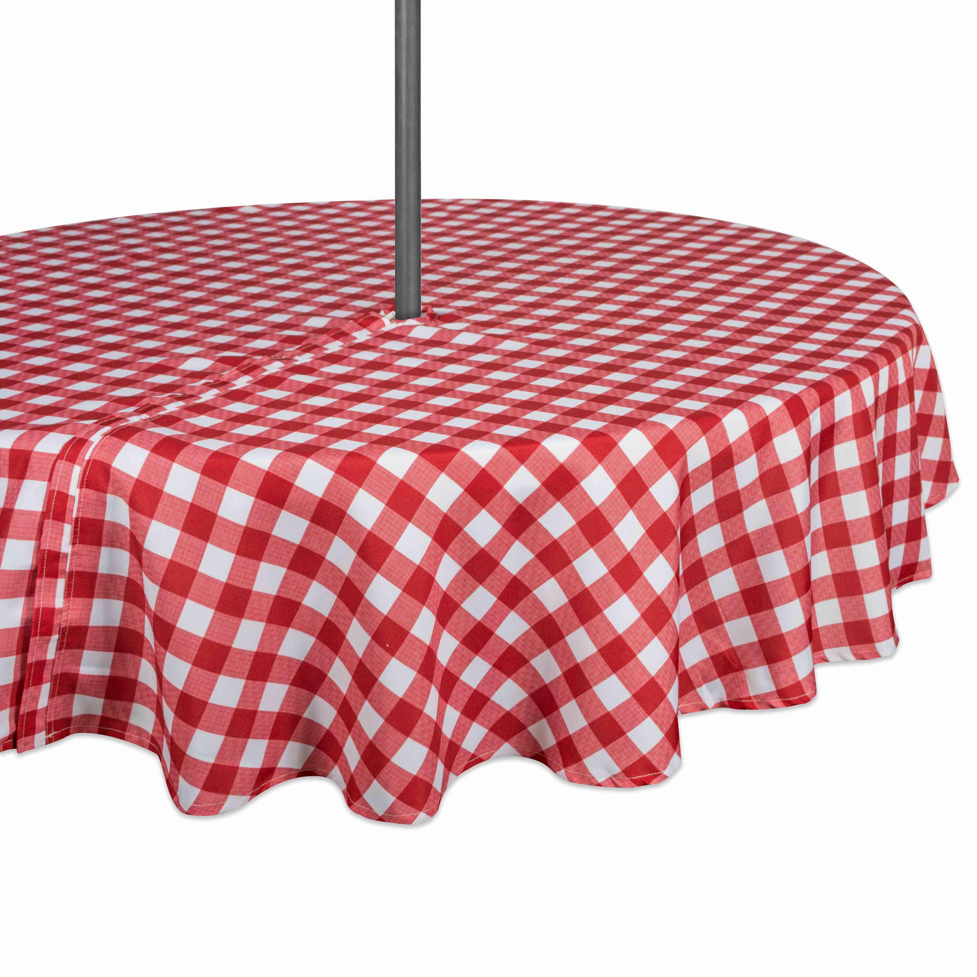 August Grove Ellerkamp Gingham Round Tablecloth