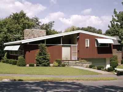Split Level Ranch Style House Mid-Century Modern