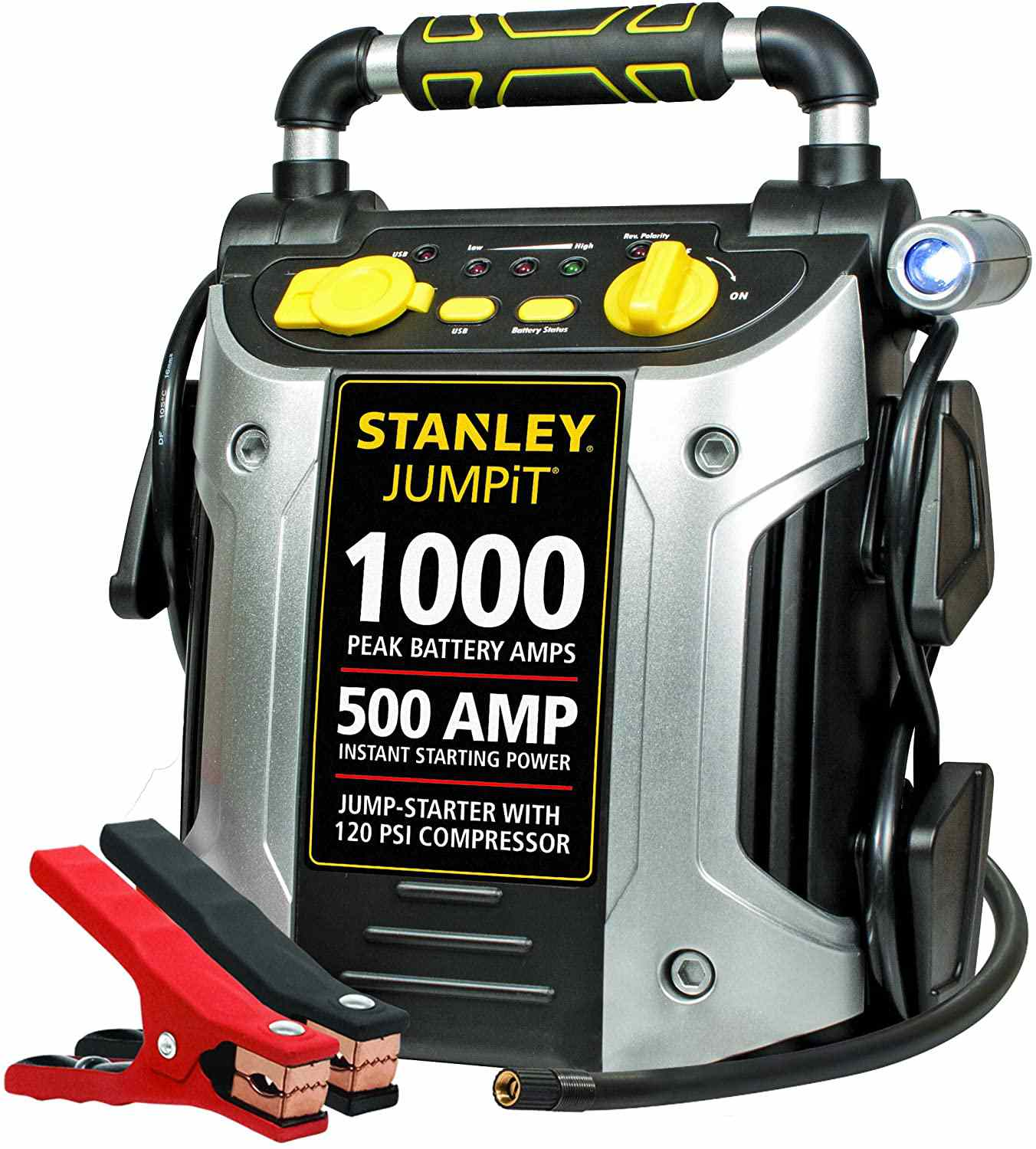 The Stanley J5C09 JUMPiT Portable Power Station will jumpstart your car.