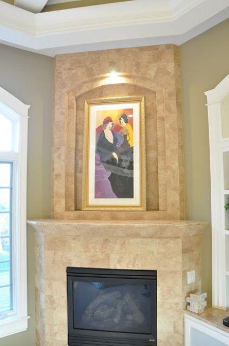 Fireplace Veneer Makeover Before