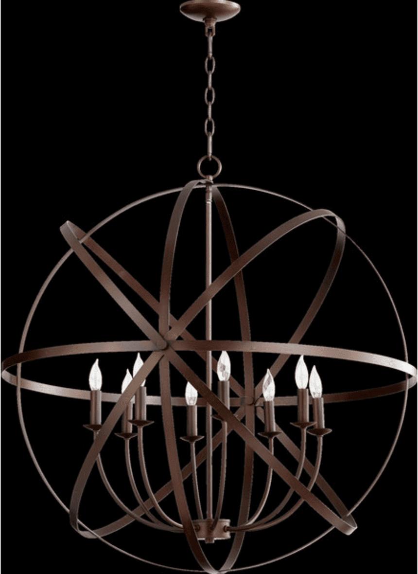 Copper Globe Chandelier