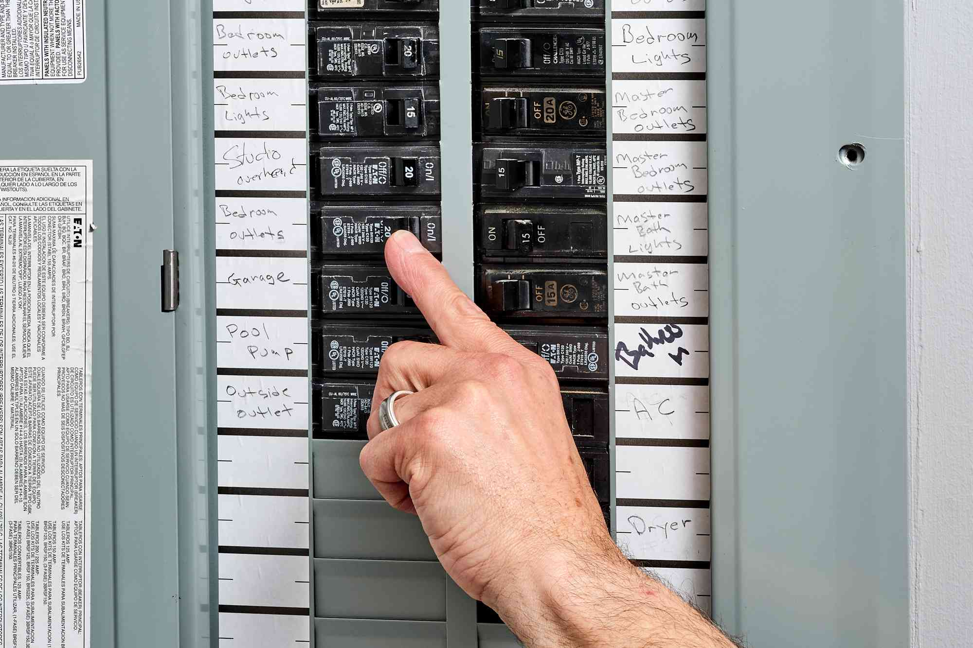 Circuit breaker checked if flipped off in service panel