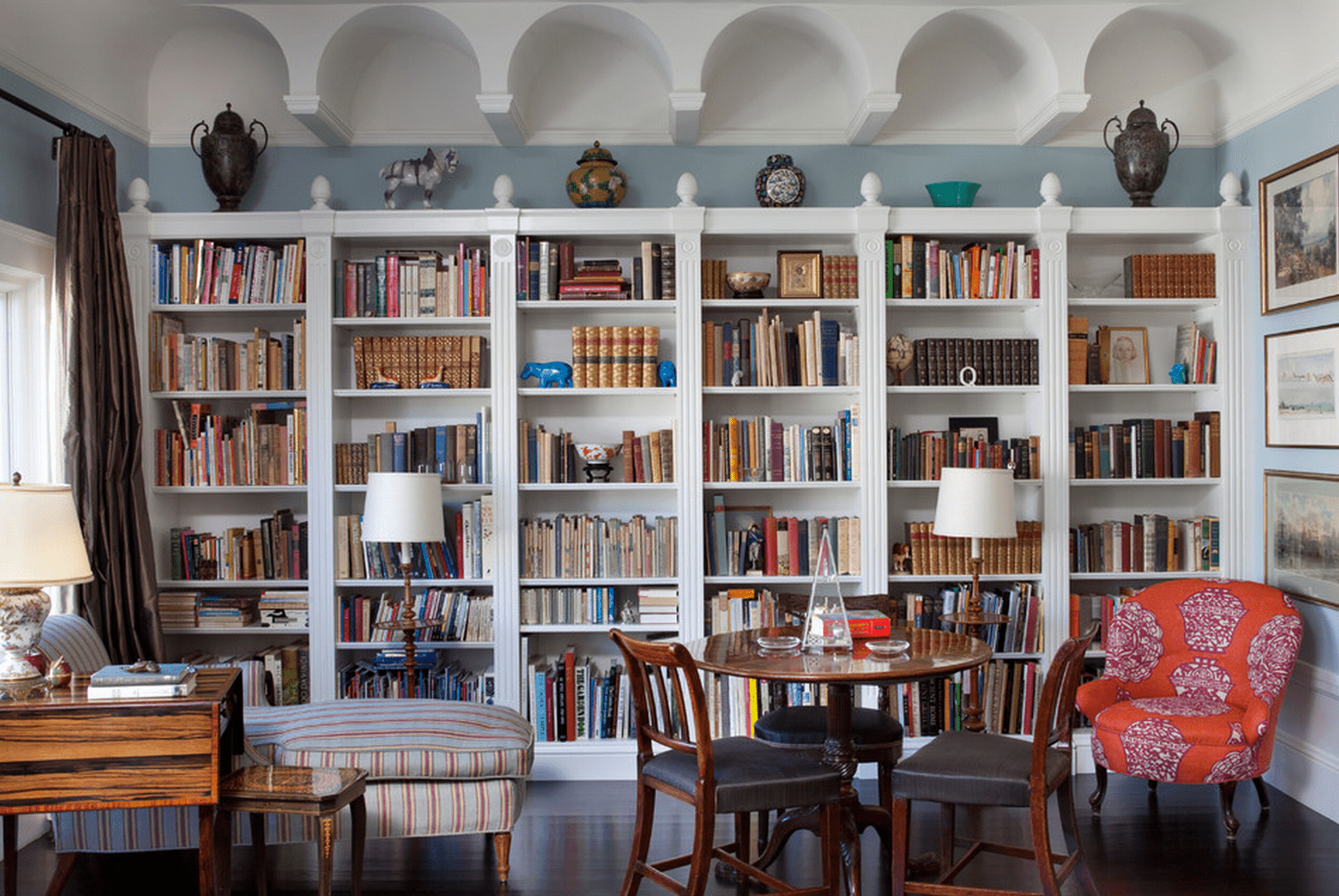 beautiful living rooms with built in shelving - Wall Sized Bookshelves