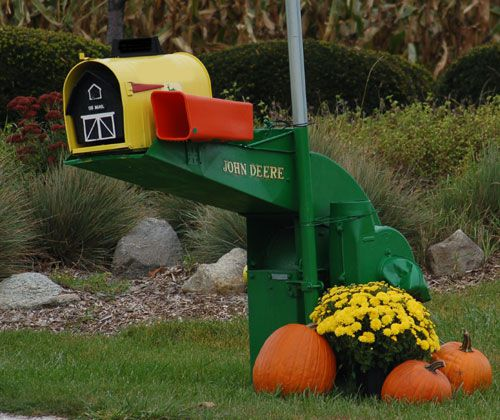 Unusual mailboxes (or mailbox posts) give a landscape a personal touch.