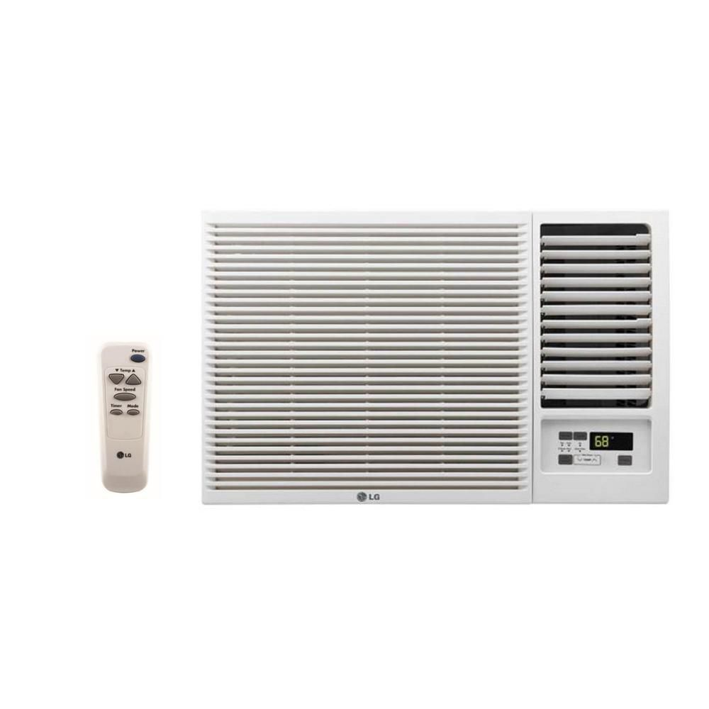 LG Window Air Conditioner with Cool, Heat and Remote