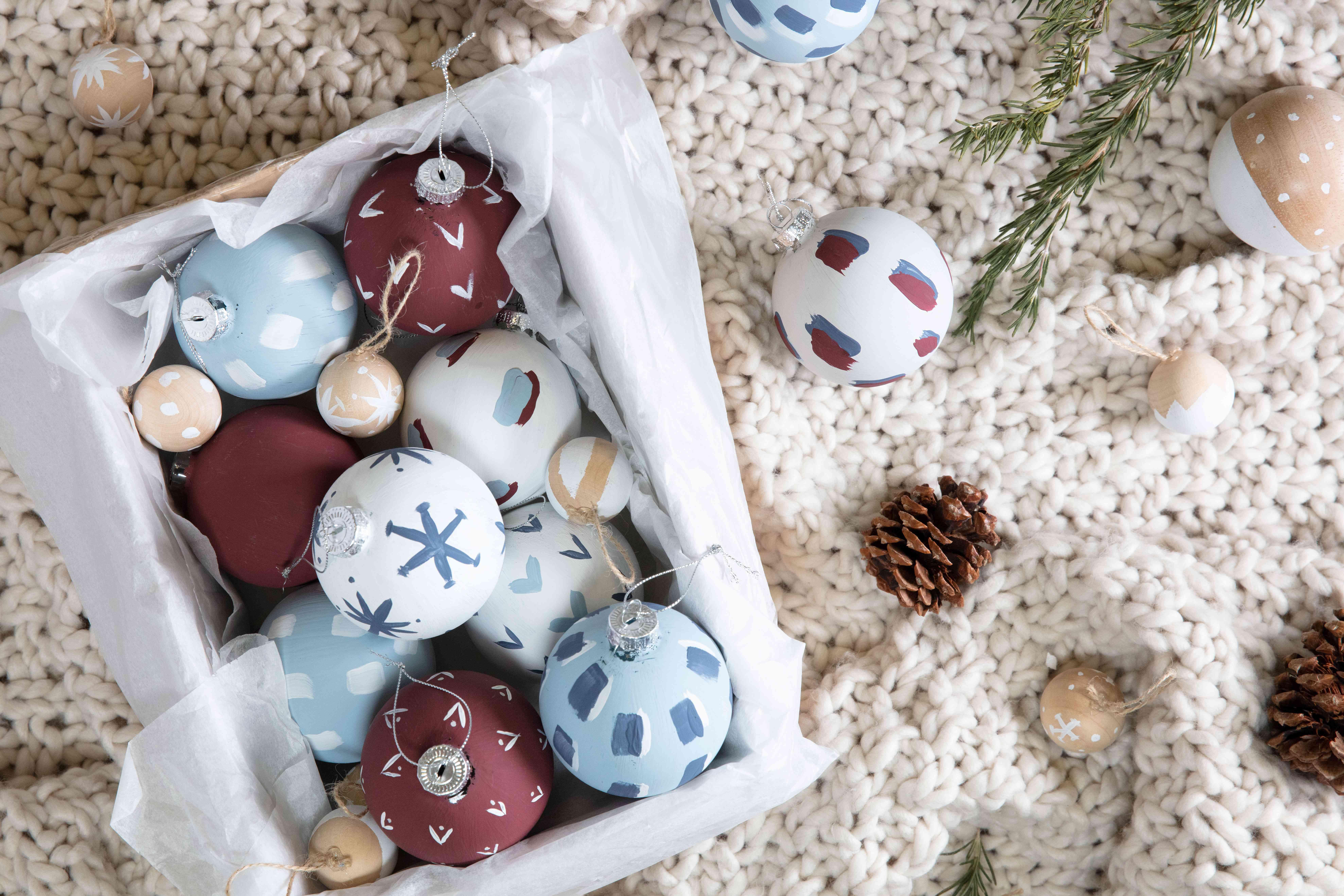 Ornaments in a box