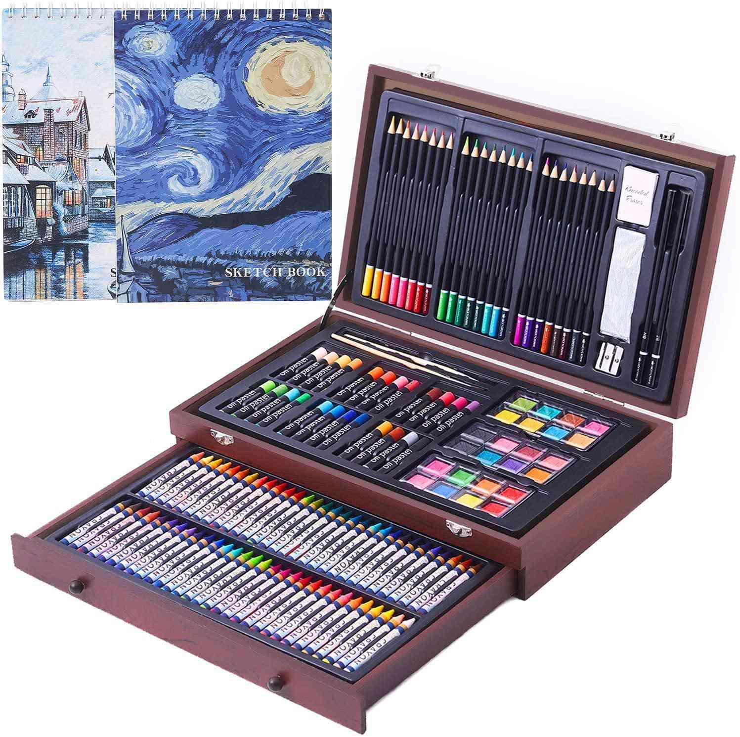 COOL BANK 145-Piece Deluxe Wood Art Creativity Set