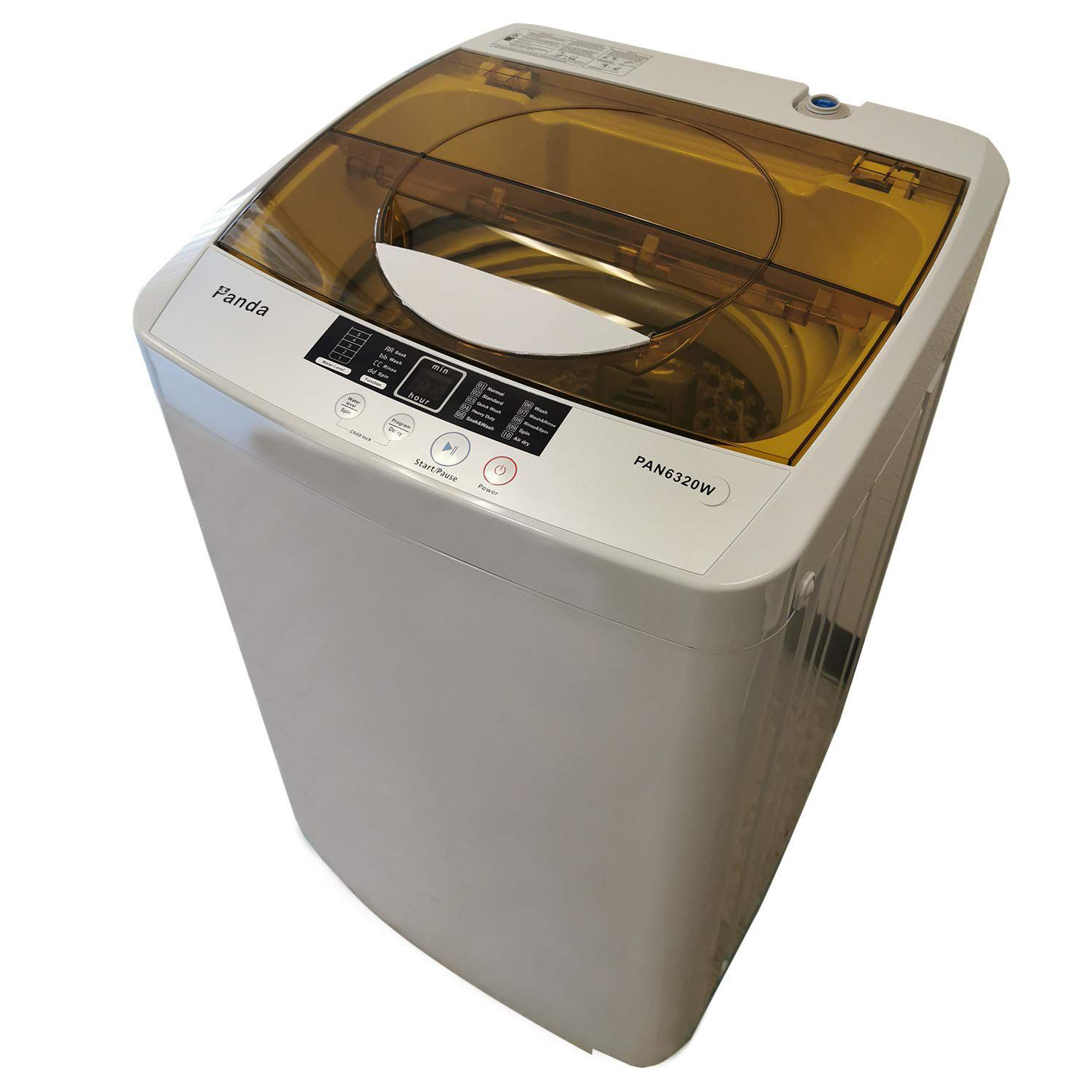 The Panda PAN6320W Portable Washing Machine can easily be transported from one spot to another.