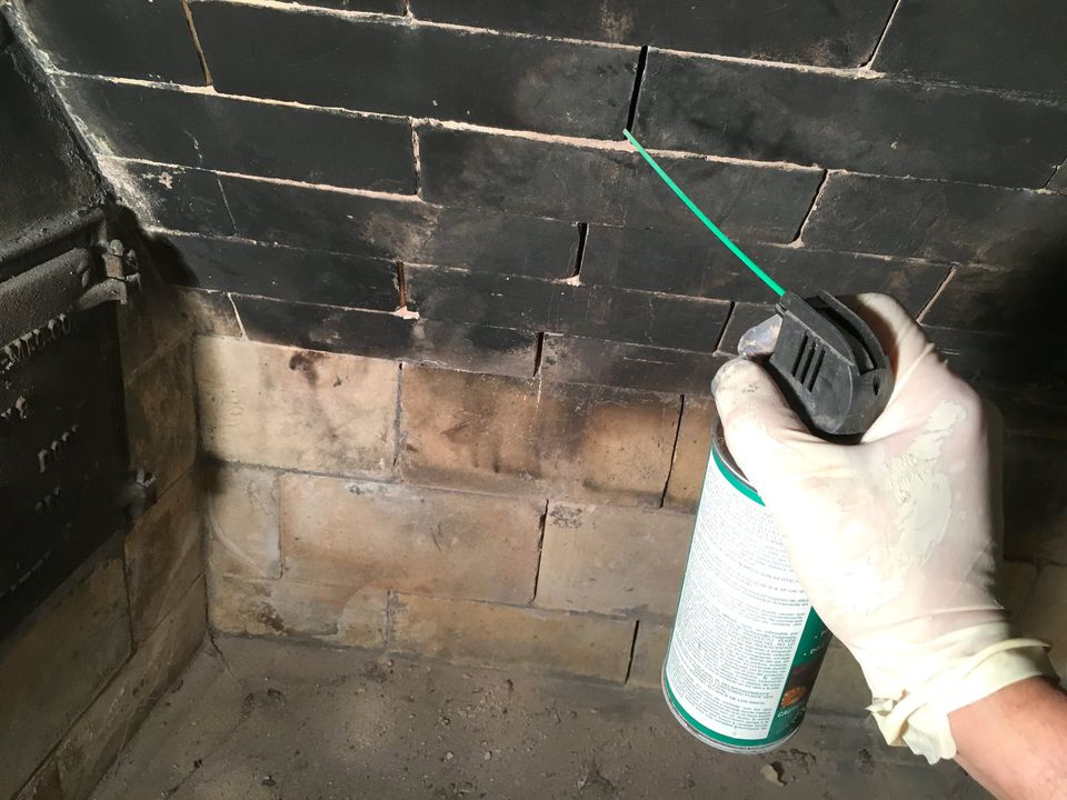 how to replace firebrick in a fireplace