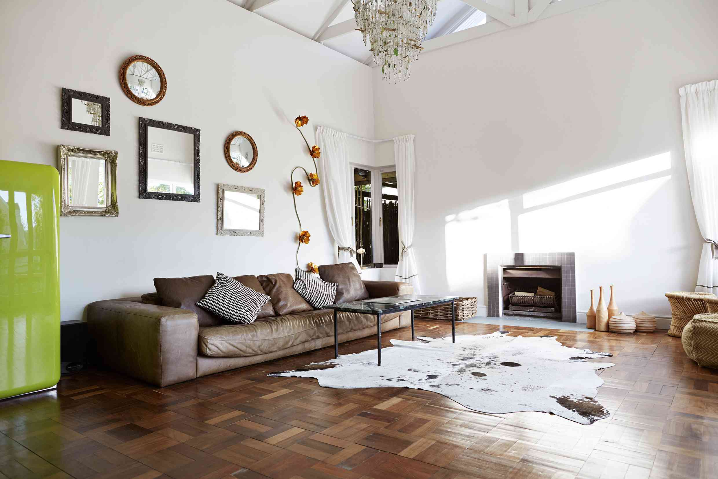 Accents such as pillows and rugs help update the look of your home