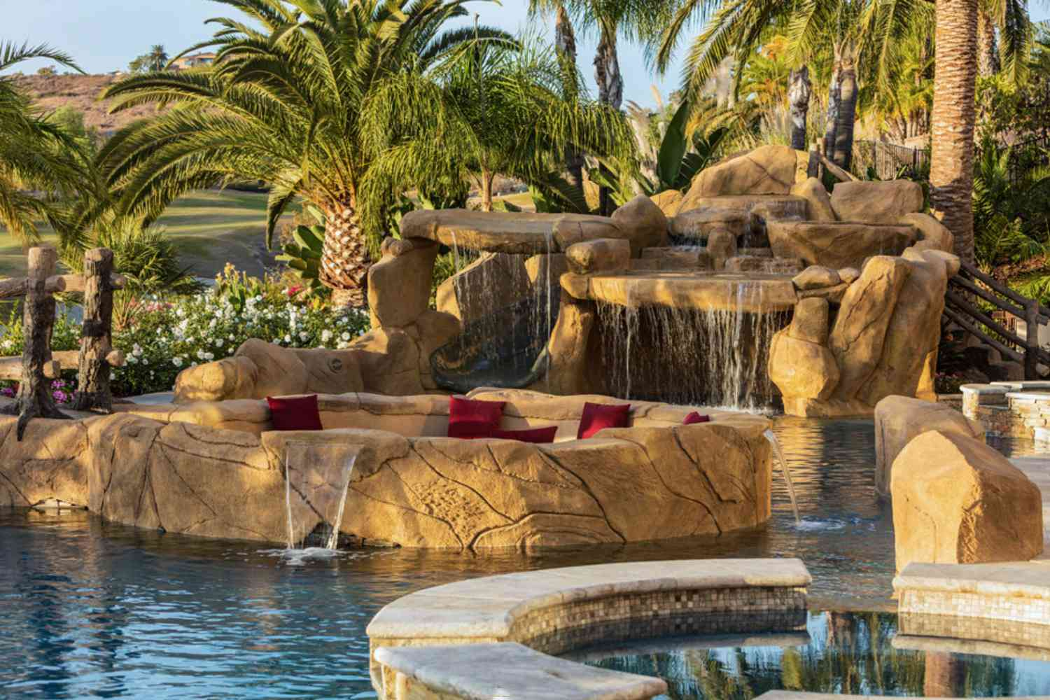 Pool with amazing water features