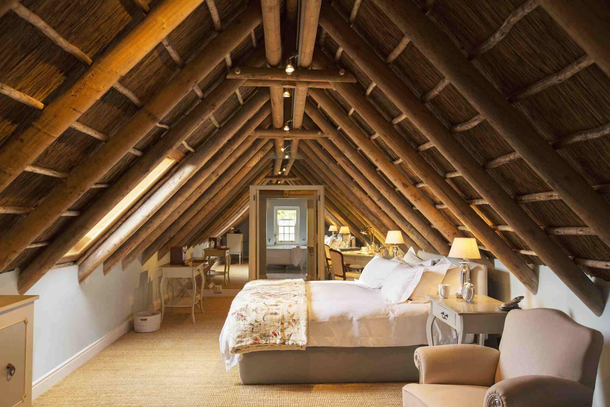 Luxury attic bedroom