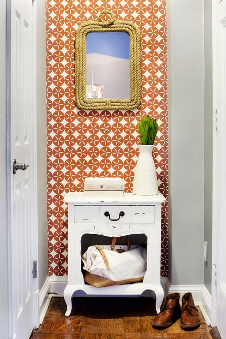 Colorful, patterned entryway by Darlene Chimaliro