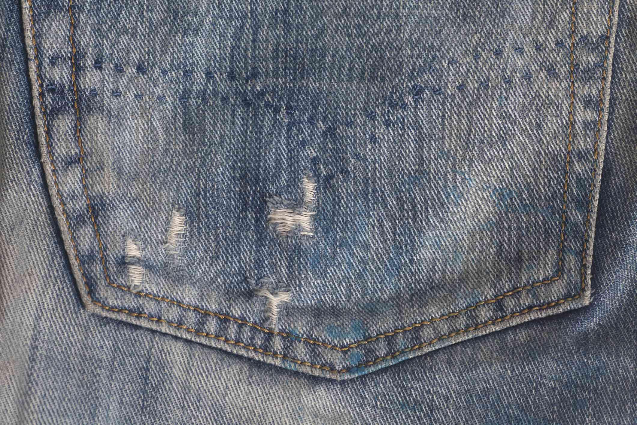 Jeans pocket denim texture background