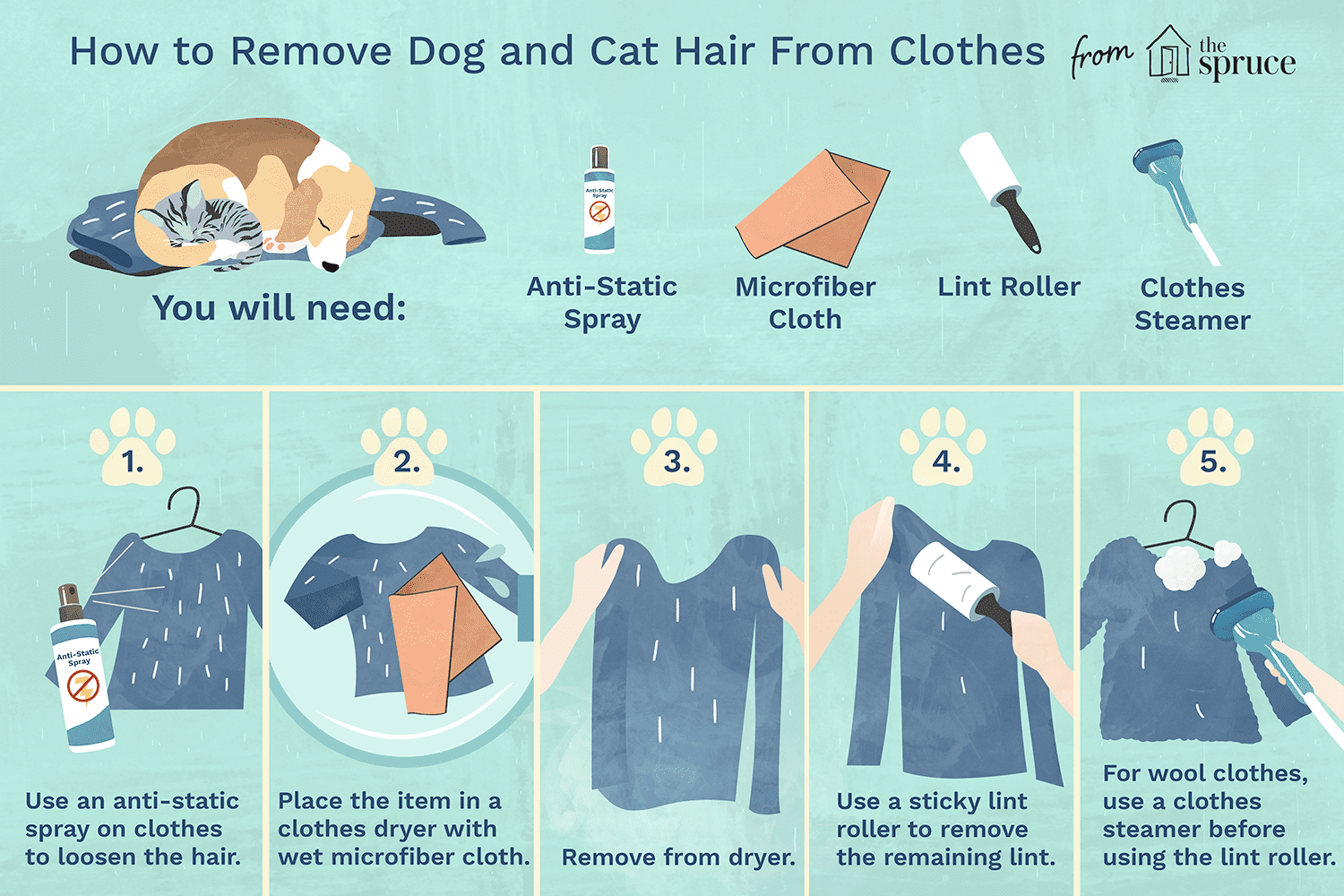 How To Remove Dog And Cat Fur From Clothes Upholstery