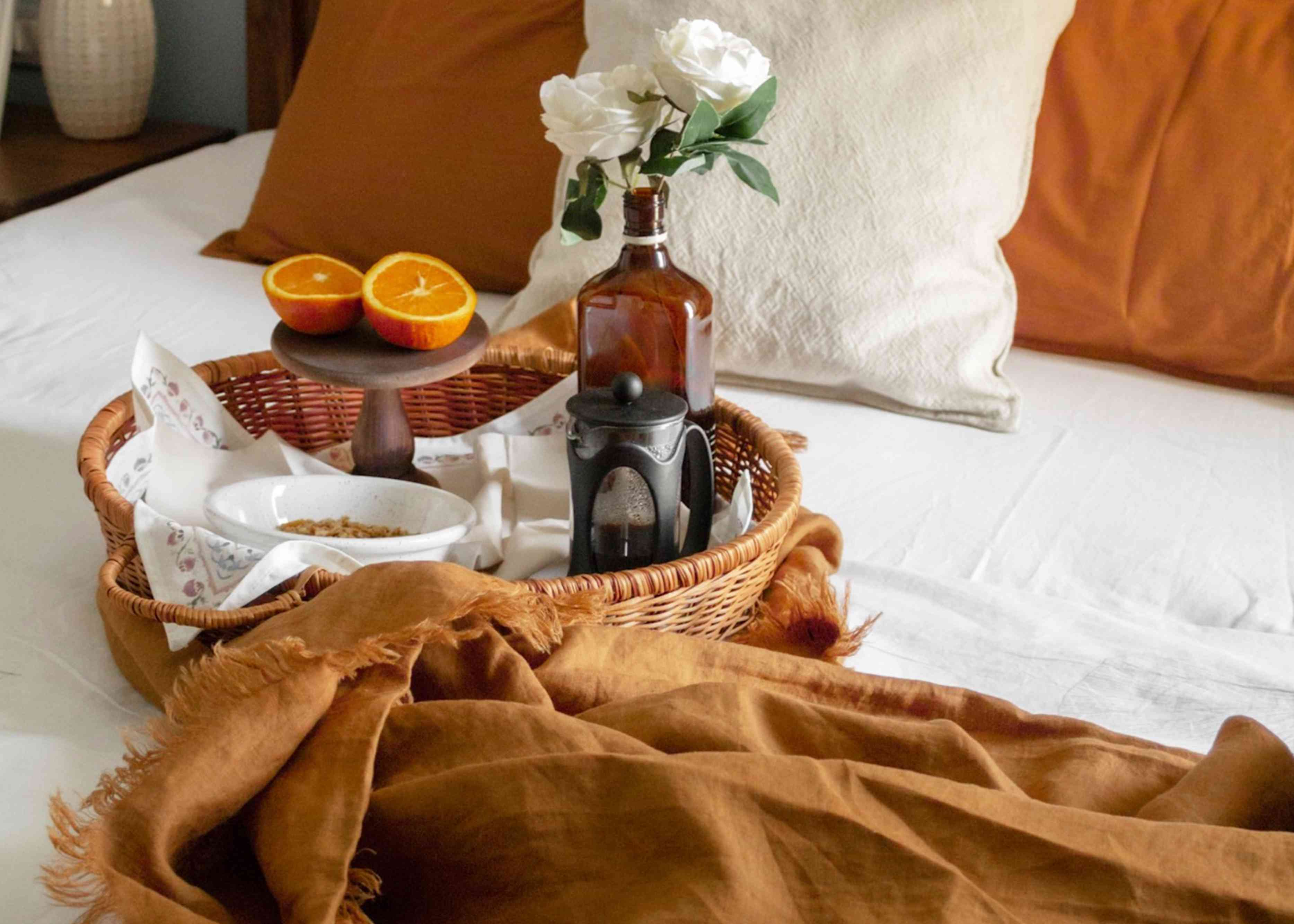 luxurious bed linens