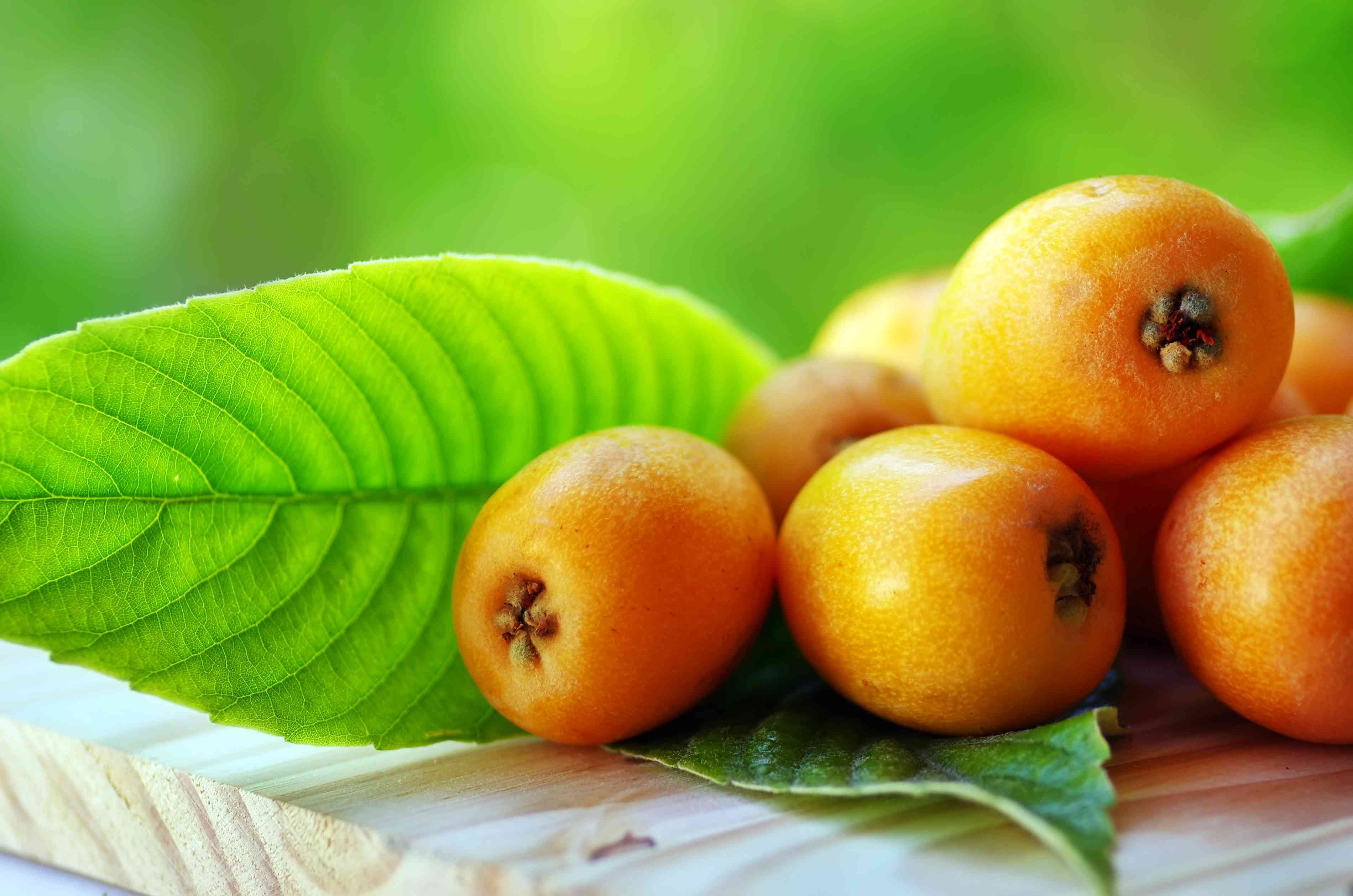 Loquats on a table