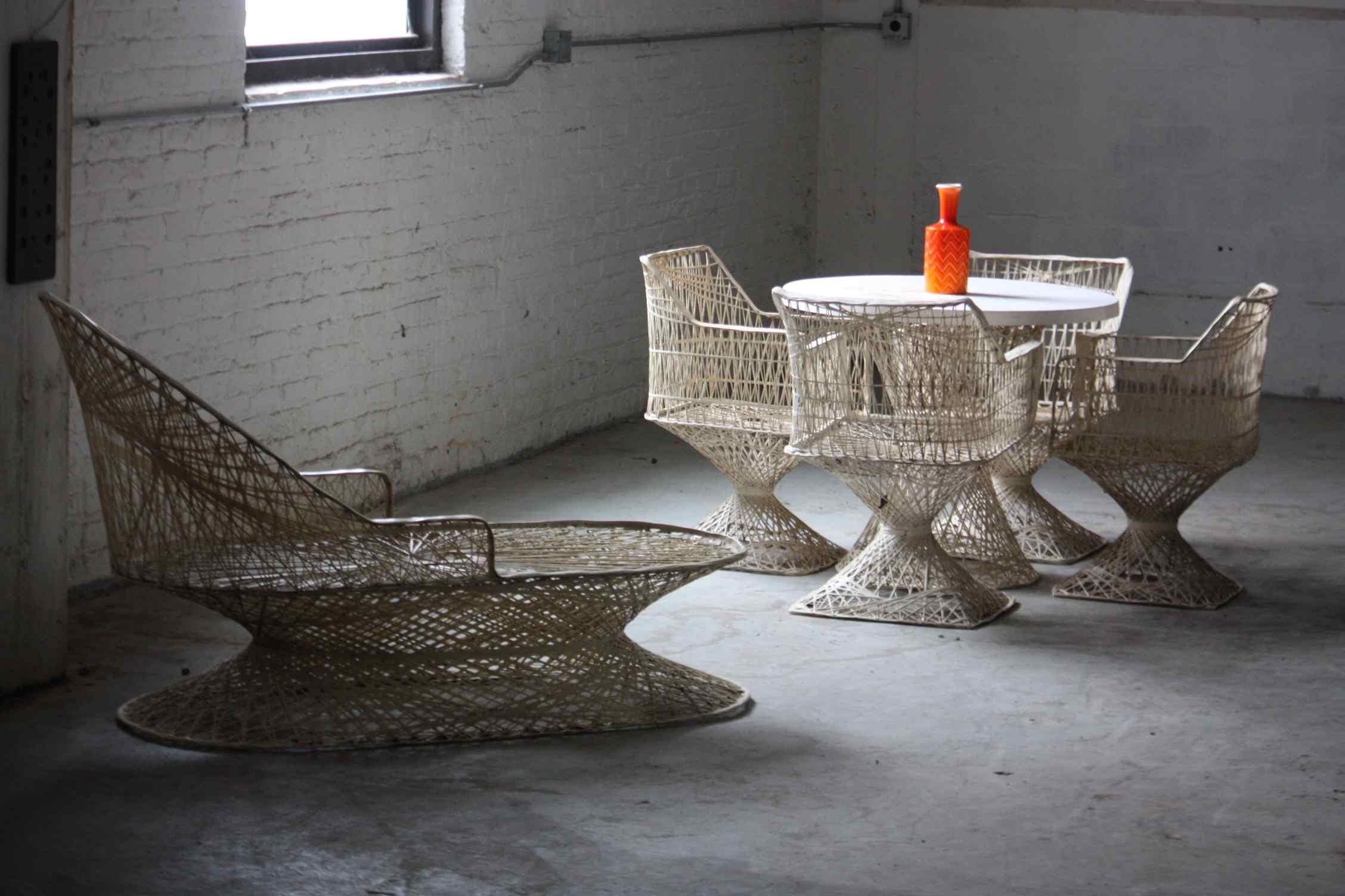 homecrest spun fiberglass vintage furniture