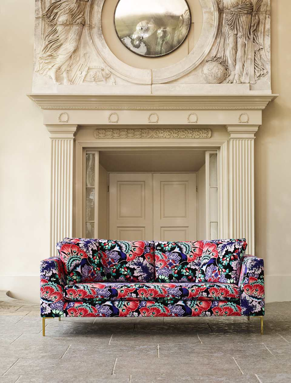 Liberty of London Anthropologie furniture collection sofa